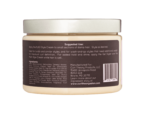 Curl Theory Moisture Collection Multi-Style Cream (Back)